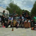 """Trommelgruppe bei """"Schulen musizieren"""" in Ansbach"""