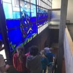 Die Klasse 5c zu Besuch bei Kaplan Blank in der Pfarrei Herz Marien