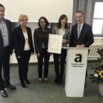 Die Realschule am Judenstein erhält den Aumüller-Integrationspreis für die Förderung von Schülerinnen und Schülern mit Deutsch als Zweitsprache